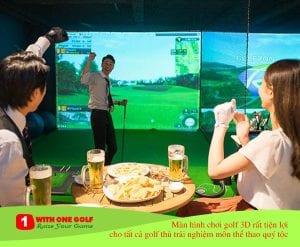 Màn hình chơi golf 3D